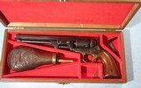 ORIGINAL COLT MODEL 1851 NAVY REVOLVER CIRCA 1866 IN REPRODUCTION CASE.