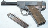 "SCARCE PRE-WAR HIGH STANDARD MODEL C 22 SHORT CAL. 4 ½"" SEMI-AUTO PISTOL. - 1 of 5"