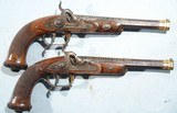 SUPERB CASED GOLD INLAID FRENCH CHARLES X PERCUSSION OFFICERS/DUELLING OR DUELING PISTOLS SIGNED LE PAGE A PARIS ARQUEBER DU ROI CIRCA 1827-30. - 2 of 16