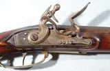 FINE NEW ENGLAND WORCESTER-SHREWSBURY SCHOOL FLINTLOCK LONG RIFLE CA. 1810-20. - 3 of 12
