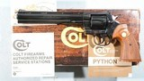 "1981 NEW IN BOX COLT PYTHON 8"" BLUE D.A. .357 MAGNUM REVOLVER."