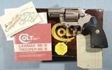 """LIKE NEW IN BOX COLT LAWMAN MK III E NICKEL (ELECTROLESS) .357 MAGNUM IN RARE 2"""" D.A. REVOLVER, CIRCA 1980-81."""