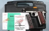 """LIKE NEW IN BOX KIMBER CUSTOM SHOP SUPER CARRY PRO SCP 4"""" .45ACP LIGHTWEIGHT 1911 PISTOL WITH NIGHT SIGHTS."""