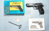 BOXED MAADI CO. EGYPTIAN HELWAN 9MM SEMI-AUTO PISTOL IMPORTED BY INTERARMS. - 1 of 7