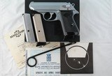 NEW IN BOX MANURHIN WALTHER PPK OR PPK/S .380ACP STAINLESS PISTOL.