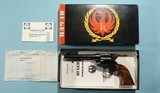 "1961 MINT IN ORIGINAL BOX RUGER OLD MODEL SINGLE-SIX .22 CAL 5 1/2"" BLUE REVOLVER. - 1 of 7"