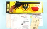 """1994 NEW IN BOX RUGER NEW MODEL SINGLE-SIX CONVERTIBLE NR-9 .22LR / .22MRF (.22 WIN MAG) 9 1/2"""" BLUE REVOLVER."""