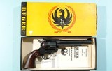 """1956 RARE IN ORIG BOX EARLY (2ND YEAR) RUGER OLD MODEL BLACKHAWK FLAT-TOP .44 MAG. CAL. 6 ½"""" REVOLVER."""