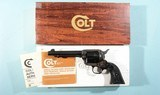 """COLT SINGLE ACTION ARMY .44 SPECIAL CAL. 5 ½"""" BLUE & CASE HARDENED REVOLVER CA. 1979 IN ORIG. BOX."""