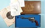 """FREEDOM ARMS .454 CASULL 6"""" SINGLE ACTION MODEL 83 (LARGE FRAME) SAA REVOLVER NEW IN BROWN BOX."""