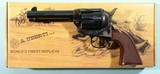 "UBERTI BY TAYLOR'S & CO. 1873 SAA SMOKE WAGON .45 LONG COLT 4 3/4"" BLUE / CASE SINGLE ACTION NEW IN BOX REVOLVER."