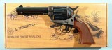 "TAYLOR'S & CO. BY UBERTI 1873 SAA SMOKE WAGON DELUXE .38 SPECIAL & .38 COLT 4 3/4"" BLUE & CASE REVOLVER NEW IN BOX."