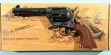 "STOEGER BY UBERTI MODEL 1873 SAA CATTLEMAN EL PATRON .45 LONG COLT 4 3/4"" BLUE/CASE REVOLVER NEW IN BOX."