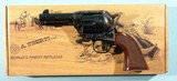 "NEW IN BOX UBERTI BY TAYLORS' & CO. MODEL 1873 SAA CATTLEMAN RUNNIN IRON .45 LONG COLT 3 1/2"" BLUE & CASE SINGLE ACTION REVOLVER."