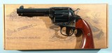 "NEW IN BOX UBERTI BISLEY MODEL 1873 SINGLE ACTION .45 LONG COLT (.45LC) 4 3/4"" BLUE/ CASE REVOLVER."
