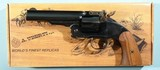 "TAYLOR'S & CO. BY UBERTI U.S. MODEL SCHOFIELD NO. 3 2ND MODEL TOP-BREAK .45 LONG COLT 5"" BLUE SINGLE ACTION REVOLVER LIKE NEW IN BOX."