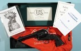 """U.S. FIRE ARMS MFG. CO. SINGLE ACTION RODEO MODEL .44 SPECIAL CAL. 4 ¾"""" REVOLVER NEW UNFIRED IN BOX CA. 2009."""
