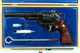 """1964 CASED SMITH & WESSON MODEL 29-2 PINNED BARREL .44 MAG. CAL. 6 ½"""" REVOLVER IN ORIG FACTORY WOOD DISPLAY BOX. - 2 of 7"""