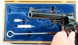 """1964 CASED SMITH & WESSON MODEL 29-2 PINNED BARREL .44 MAG. CAL. 6 ½"""" REVOLVER IN ORIG FACTORY WOOD DISPLAY BOX. - 6 of 7"""