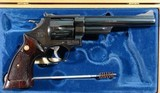 """1964 CASED SMITH & WESSON MODEL 29-2 PINNED BARREL .44 MAG. CAL. 6 ½"""" REVOLVER IN ORIG FACTORY WOOD DISPLAY BOX. - 4 of 7"""