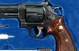 """1964 CASED SMITH & WESSON MODEL 29-2 PINNED BARREL .44 MAG. CAL. 6 ½"""" REVOLVER IN ORIG FACTORY WOOD DISPLAY BOX. - 3 of 7"""