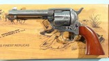 """TAYLOR'S & CO. BY UBERTI ENGRAVED 1873 SAA SINGLE ACTION CATTLEMAN .45 LONG COLT 4 3/4"""" REVOLVER NEW IN BOX."""