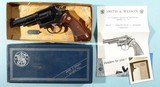 "SMITH & WESSON MODEL 19 3 19-3 COMBAT MAGNUM .357 MAG. CAL 4"" REVOLVER CA. 1976 IN ORIG. BOX."