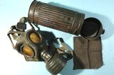 WW2 GERMAN WEHRMACHT BWZ FE 37 R GAS MASK. - 1 of 13