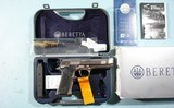 LIKE NEW IN BOX BERETTA 96 STEEL 1 SA (SINGLE ACTION ONLY) .40S&W PISTOL, CIRCA 2004. - 3 of 8