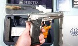 LIKE NEW IN BOX BERETTA 96 STEEL 1 SA (SINGLE ACTION ONLY) .40S&W PISTOL, CIRCA 2004. - 4 of 8