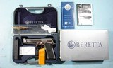 LIKE NEW IN BOX BERETTA 96 STEEL 1 SA (SINGLE ACTION ONLY) .40S&W PISTOL, CIRCA 2004. - 1 of 8