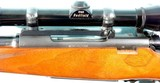 PRE-64 WINCHESTER MODEL 70 FEATHERWEIGHT .308 WIN MANNLICHER STYLE CUSTOM RIFLE WITH SCOPE, CIRCA 1961. - 8 of 14