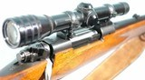 PRE-64 WINCHESTER MODEL 70 FEATHERWEIGHT .308 WIN MANNLICHER STYLE CUSTOM RIFLE WITH SCOPE, CIRCA 1961. - 13 of 14