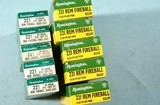 LOT OF 10 BOXES (200 ROUNDS TOTAL) .221 REMINGTON FIREBALL 50GR. PSP FACTORY AMMUNITION, INDEX # 5221 & R221F.