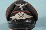 WW2 GERMAN LUFTWAFFE ENLISTED SIGNALS VISOR CAP.