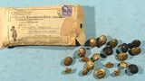 ORIGINAL BANNERMAN'S PACKET OF 20 ASSORTED U.S. ARMY INDIAN WARS / SPAN-AM WAR / WW1 BRASS EAGLE BUTTONS.