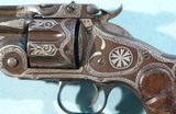 RARE SMITH & WESSON NEW MODEL NO. 3 RUSSIAN SILVER NIELLO INLAID .44 CAL. REVOLVER CA. 1877. - 7 of 8