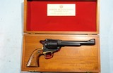 "CASED EARLY (1ST 12 MONTHS) RUGER SUPER BLACKHAWK .44 MAGNUM 7 1/2"" REVOLVER WITH RARE LONG GRIP FRAME, CIRCA 1959-60."