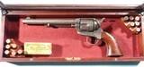 "ORIGINAL COLT BLACK MODEL 1873 SAA POWDER SINGLE ACTION .45 LONG COLT CAL. 7 1/2"" CIVILIAN ARMY REVOLVER CA. 1888."