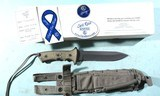 """NEW IN BOX CHRIS REEVE GREEN BERET FIGHTING KNIFE CPM S35VN, WITH 7"""" BLADE."""