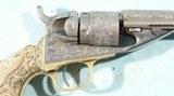 COLT NIMSCHKE ENGRAVED TIFFANY GRIP MODEL 1862 POCKET NAVY CONVERSION REVOLVER. - 7 of 14