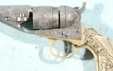 COLT NIMSCHKE ENGRAVED TIFFANY GRIP MODEL 1862 POCKET NAVY CONVERSION REVOLVER. - 6 of 14