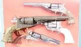 COLT NIMSCHKE ENGRAVED TIFFANY GRIP MODEL 1862 POCKET NAVY CONVERSION REVOLVER. - 2 of 14