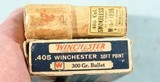 TWO BOXES (20 EA.) EARLY WINCHESTER .405 WIN. CARTRIDGES OR AMMUNITION (AMMO) CIRCA EARLY 1900'S. - 5 of 6