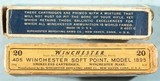 TWO BOXES (20 EA.) EARLY WINCHESTER .405 WIN. CARTRIDGES OR AMMUNITION (AMMO) CIRCA EARLY 1900'S. - 2 of 6