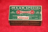 """Remington Kleanbore .38 S&W Special """"Oilproof"""" R262"""