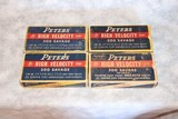 4 Boxes of Peters High Velocity 300 Savage 180 Gr. Inner-Belted Soft Point and (1) Pointed Soft Point