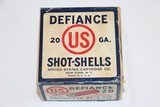US Cart. Co., DEFIANCE, 20 Gauge, 2pc., Full & Sealed, 7 1/2C,