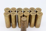 (13) Winchester No. 12 Brass Shot Shells 1st Quality