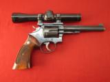 Smith and Wesson K-22 Revolver with Leupold Scope and Base